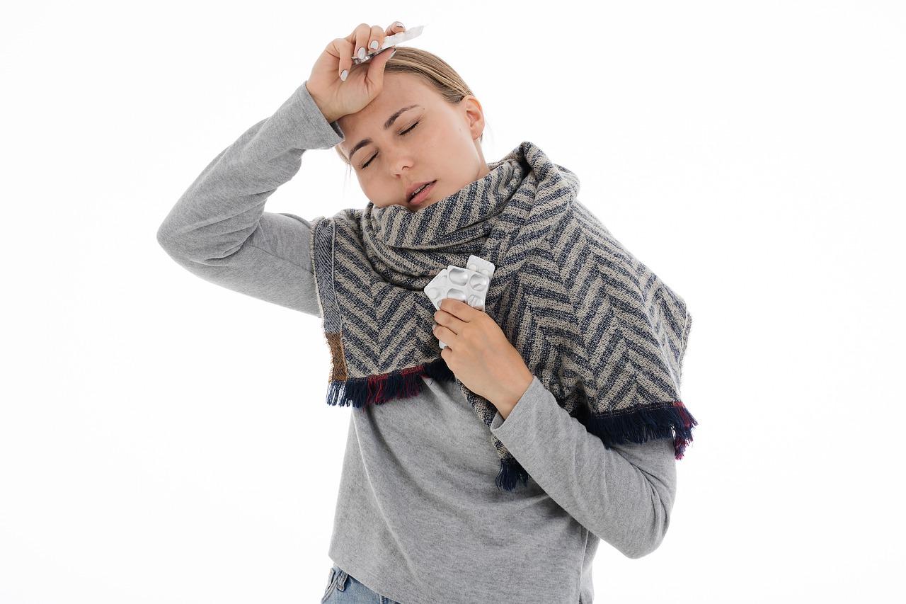 Brak odporności na przeziębienie.